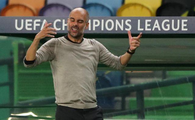 Pep Guardiola ni skrival razočaranja. FOTO: Miguel A. Lopes/Reuters