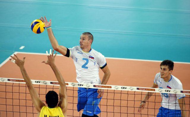 Alen Pajenk (2) je že vrsto let med udarnimi aduti slovenske reprezentance. FOTO: Uroš Hočevar/Delo