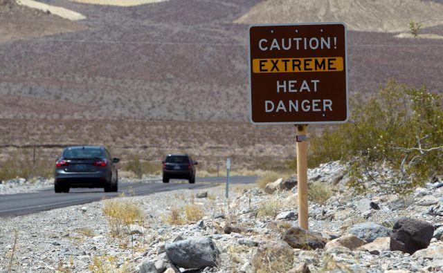 V Dolini smrti so zabeležili najvišjo temperaturo doslej. FOTO: Steve Marcus/Reuters
