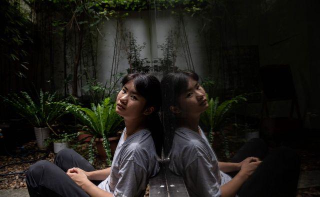 Na Kitajskem zahteve za boj proti podnebnim spremembam niso modna dejavnost, kar je na svoji koži izkusila 17-letna Howey Ou. FOTO: Nicolas Asfouri/AFP