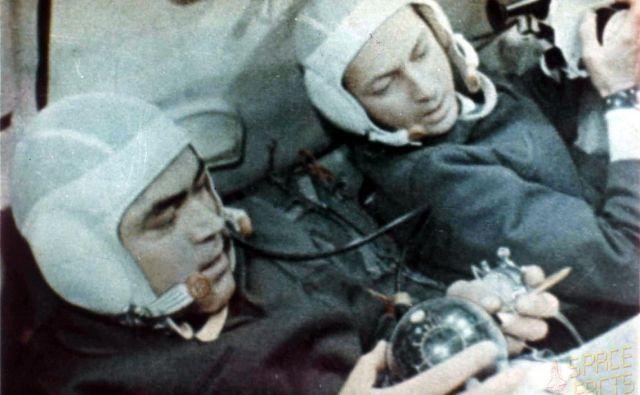 Andrijan Nikolajev in Vitalij Sevastjanov na krovu vesoljske ladje Sojuz 9 Foto Shutterstock