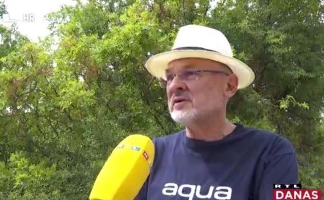 Težko je Jelku Kacinu na Krku. FOTO: Zajem zaslona/RTL