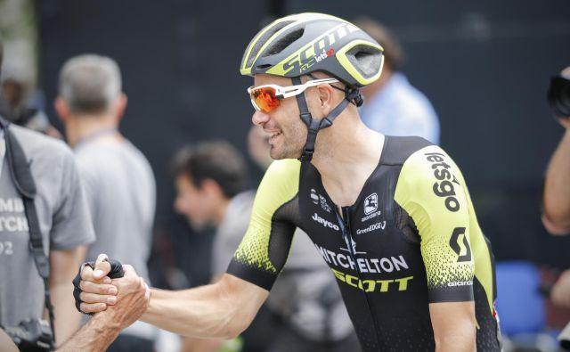 Luka Mezgec je bil nekajkrat na širšem seznamu kandidatov za Tour de France, pri 32 letih pa je dočakal krstni nastop. FOTO: Uroš Hočevar/Delo