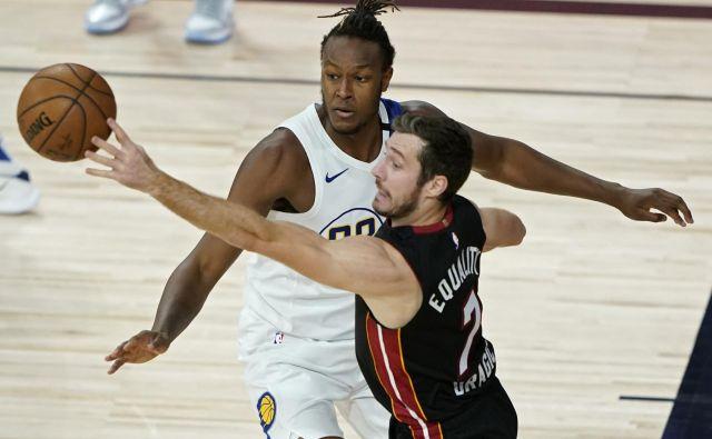 Goran Dragić je še z eno odlično igro v uvodnem dvoboju izločilnega dela tekmovanja v NBA popeljal Miami v polfinale vzhodne konference. FOTO: Ashley Landis/USA TODAY Sports