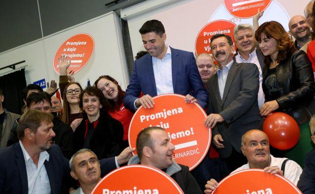Članstvo največje hrvaške opozicijske stranke bo konec septembra na volitvah izbralo naslednika nekdanjega prvaka Davorja Bernardića. FOTO: Emica Elvedji/Cropix