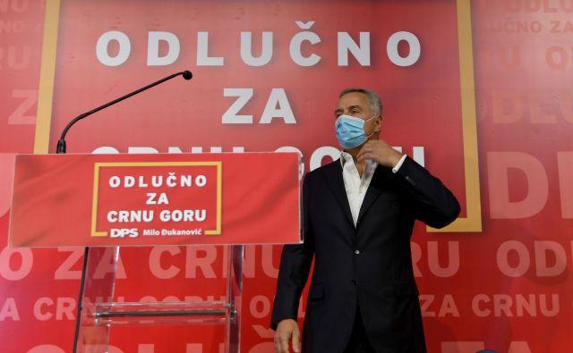 Vladajoča DPS predsednika Mila Đukanovića je prejela le dobrih 35 odstotkov glasov, kar je njen najslabši rezultat doslej FOTO: Savo Prelevic/Afp