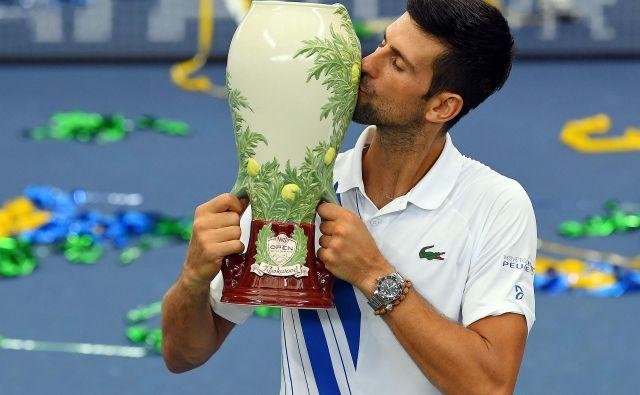 Po zmagi na svojem 35. turnirju serije masters je Novak Đoković spregovoril še o svojih dejavnostih zunaj teniških igrišč. FOTO: Robert Deutsch/USA TODAY Sports