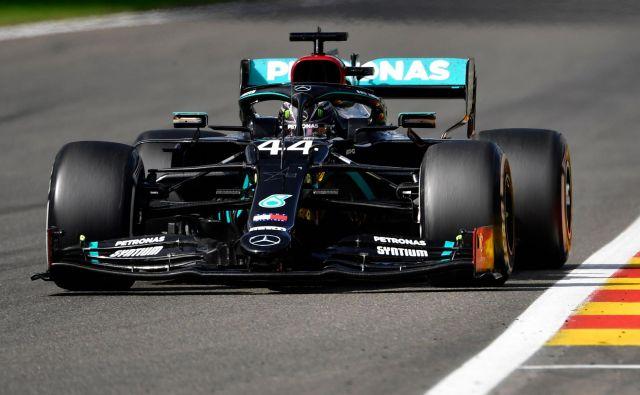Lewis Hamilton še naprej zmaguje. FOTO: John Thys/Reuters