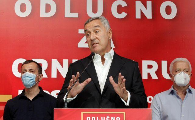 Đukanović je priznal, da njegova DPS s tradicionalnimi koalicijskimi partnerji nima parlamentarne večine. FOTO: Stevo Vasiljević/Reuters
