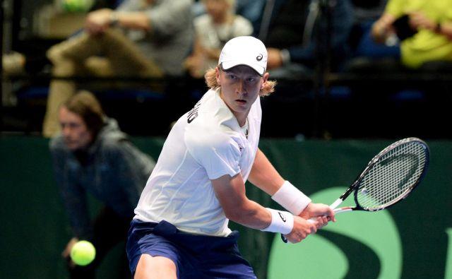 Emil Ruusuvuori velja za velikega finskega upa v tenisu. FOTO: Mikko Stig/Reuters