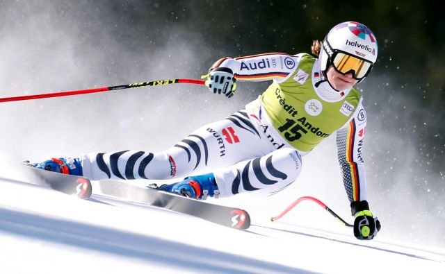 Viktoria Rebensburg ne bo več tekmovalno dričala po belih strminah. FOTO: Christian Hartmann/Reuters