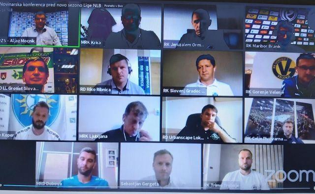 Trenerji so svoja pričakovanja predstavili prek videokonference. Foto: P. Z.