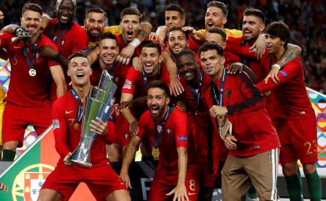 Zmagovalci prve lige narodov Portugalci bodo drugo izvedbo tekmovanja začeli v soboto v Poru proti svetovnimi podprvaki Hrvati. FOTO: Carl Recine/Reuters