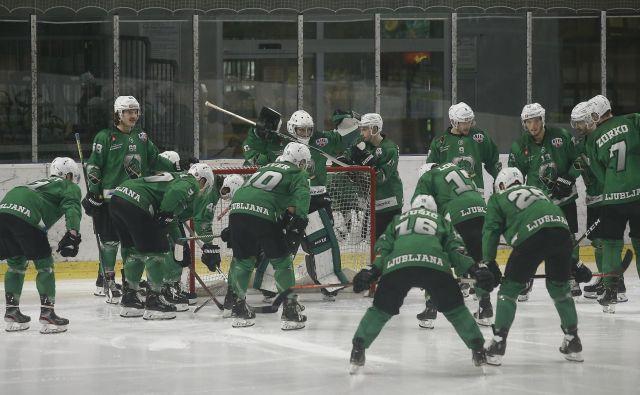 Hokejisti SŽ Olimpije bodo še eno sezono igrali v alpski ligi. FOTO: Blaž� Samec/Delo