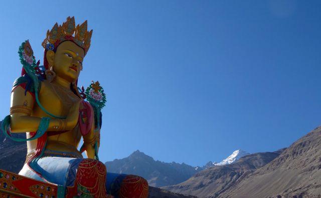 20 meterski Buddha of Nubra Valley.FOTO: Gregor Ambrožič