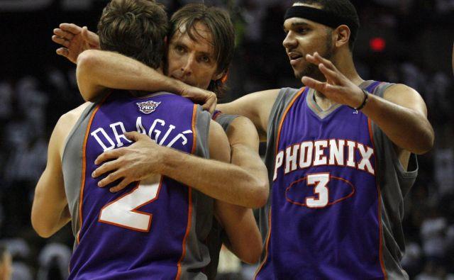 Steve Nash in Goran Dragić sta bila soigralca pri Phoenixu. FOTO: Mike Stone/Reuters