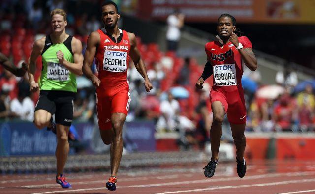 Luko Janežiča v mednarodni konkurenci vsakič čaka težko delo, saj se mora soočiti s plejado temnopoltih tekačev na 400 m.<br /> FOTO: Olivier Morin/AFP