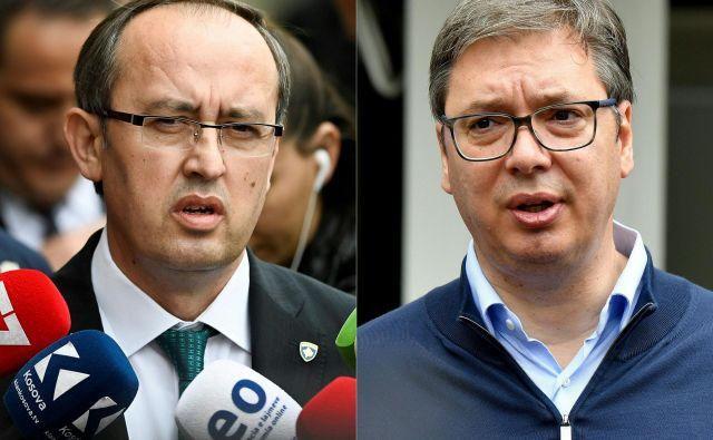 Vučić in Hoti sta v Beli hiši v prisotnosti Trumpa podpisala sporazum o gospodarskih odnosih. FOTO: Andrej Isakovic/AFP
