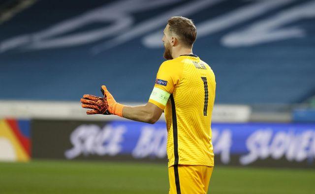 Vratar Jan Oblak je bil med najbolj zaslužnimi za pomembno točko Slovenije v boju za prvo mesto v skupini C3. FOTO: Leon Vidic