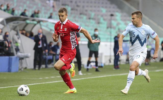 Damjan Bohar je v osmi tekmi priigral prvo zmago Sloveniji v ligi narodov. FOTO: Jože Suhadolnik