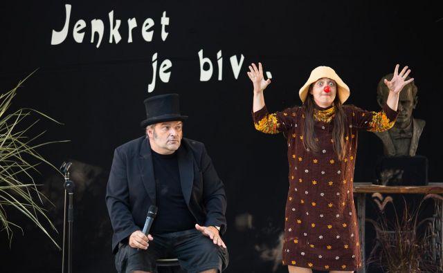 Anja in Goran Završnik na letošnjem Križnikovem festivalu<br /> FOTO Luka Dakskobler