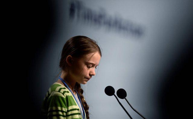 Dokumentarni film je delo mlajšega švedskega režiserja, ki mu je uspelo mlado aktivistko prikazati tako, kakršna je v resnici. FOTO: Cristina Quicler/AFP
