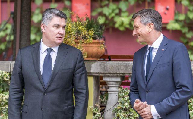 Predsednika sta se srečala v delovnem vzdušju tudi na Ptuju sredi maja, potem ko je Milanović položil vence za žrtve povojnih pobojev na mariborskem pokopališču Dobrava. FOTO:Jaka Arbutina