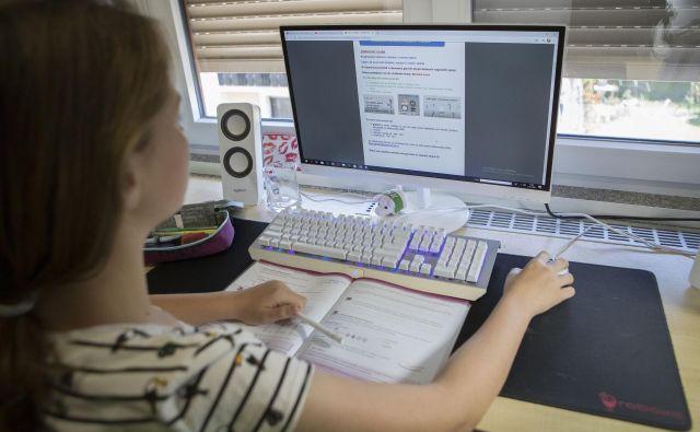 Učenje na daljavo ni mogoče brez sodobnih komunikacijskih poti. FOTO: Leon Vidic/Delo