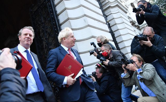 Britanski premier Boris Johnson je prepričan, da bi bil tudi razplet brez dogovora z Unijo dober za London. Foto Justin Tallis/AFP