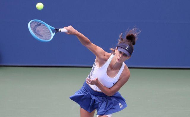 Cvetana Pironkova se je na svojem prvem turnirju po triletni odsotnosti zavihtela v četrtfinale. FOTO: Al Bello/AFP
