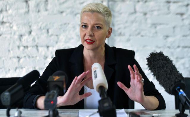 Voditeljica protestov Maria Kolesnikova. FOTO: Sergei Gapon/AFP