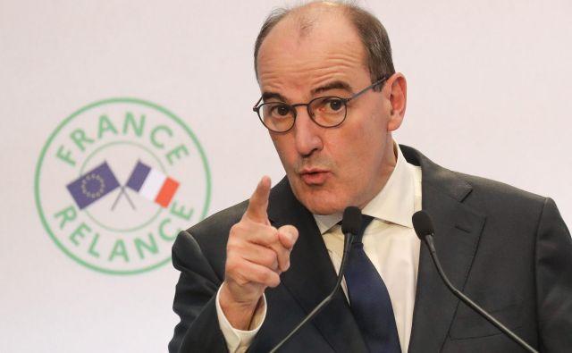 Premier Jean Castex pojasnjuje, kako naj bi se Francija spopadla s krizo, ki jo je povzročil covid-19.  <br /> Foto: Ludovic Marin/Afp