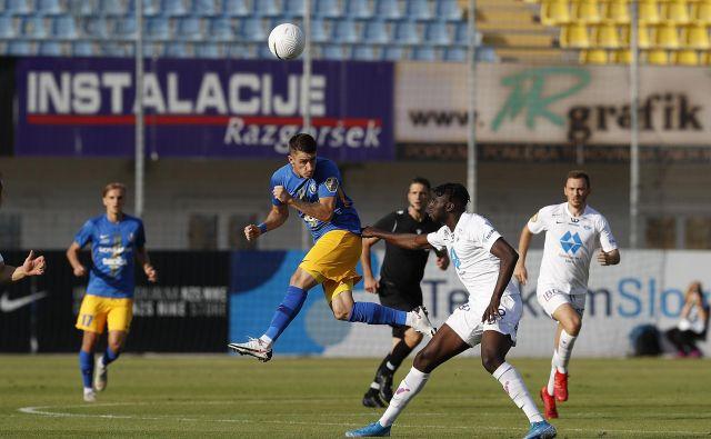 Po treh uspešnih sezonah pri Celju je najboljši strelec slovenskega nogometnega prvaka Dario Vizinger karierni izziv našel pri WAC iz Volšperka. FOTO: Leon Vidic/Delo