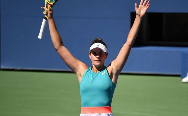 Jennifer Brady se je veselila uspeha kariere. FOTO: Danielle Parhizkaran/Usa Today Sports