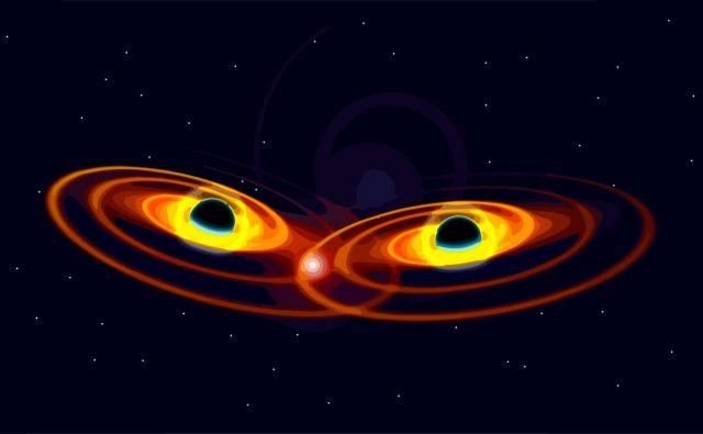 Trčili sta črni luknji z masama 66 in 80 mas Sonca in se zlili v večjo črno luknjo z maso okoli 142 mas Sonca. Foto Shutterstock