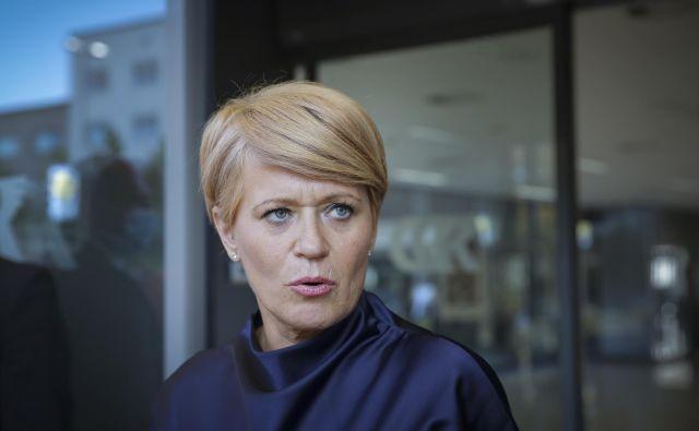 Aleksandra Pivec je dogajanje v Desusu označila za puč v stranki. FOTO: Jože Suhadolnik/Delo