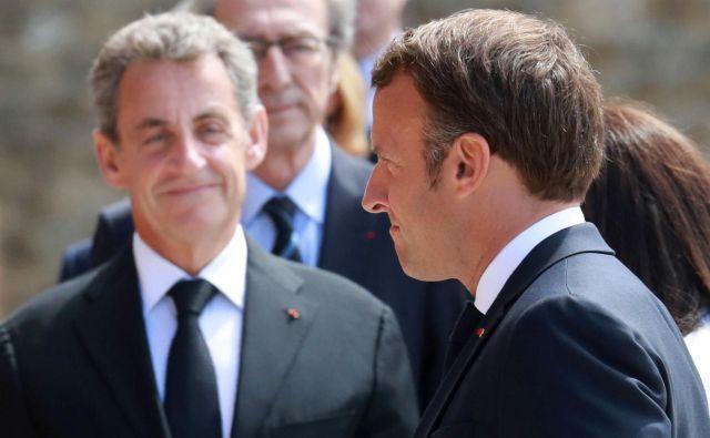 Sarkozyjeva močna senca na macronizmu ni samo prazen mit o vplivu iz ozadja. Foto Ludovic Marin/Reuters
