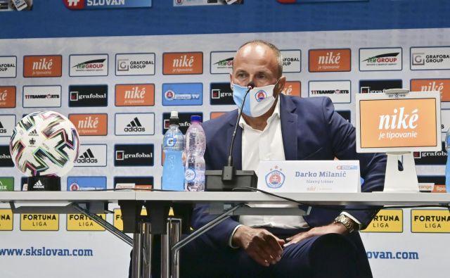 Trener Darko Milanič je uspešno začel novo poglavje v slovaški metropoli. FOTO: Slovan Bratislava