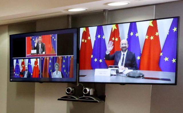 Kitajska se zaveda, da je za evropske proizvajalce izjemno pomemben trg, zato pričakuje, da EU ne bo zaostrovala zunanje politike. FOTO: Yves Herman/Reuters