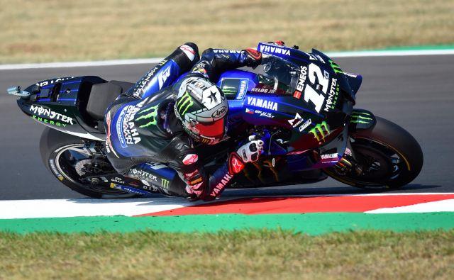 Maverick Vinales bo jutrišnjo dirko v razredu motoGP štartal z najboljšega položaja. FOTO: Massimo Pinca/Reuters