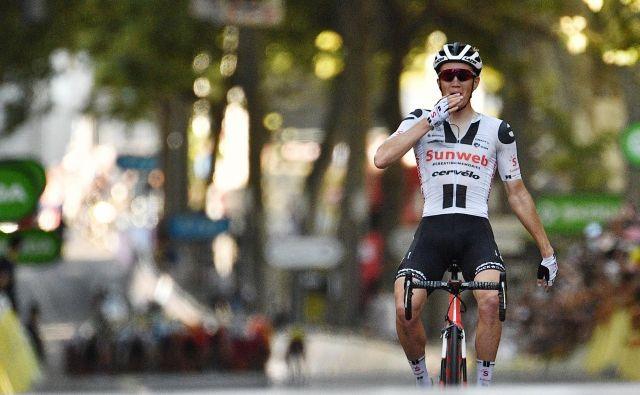 Danec Soren Kragh Andersen je zmagovalec 14. etape. FOTO: Anne-christine Poujoulat/AFP