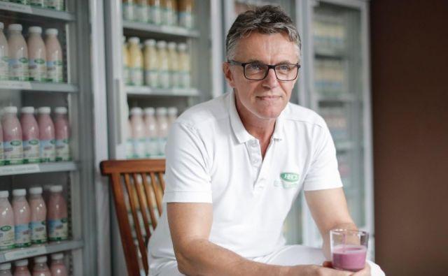 Peter Hecl, proizvajalec sirov in jogurtov na kmetiji Fingušt Hecl Foto Uroš Hočevar