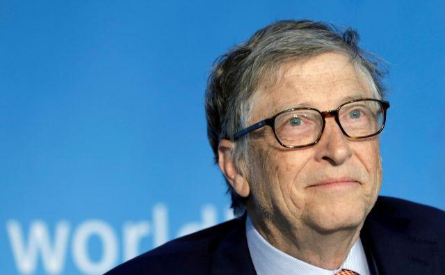 Billa Gatesa so zagovorniki teorij zarote označili za sovražnika številka ena. FOTO: Yuri Gripas/Reuters