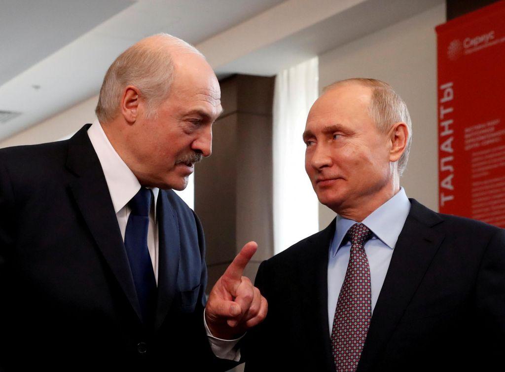 Putin Lukašenku zagotovil, da ne bo izgubil podpore Moskve