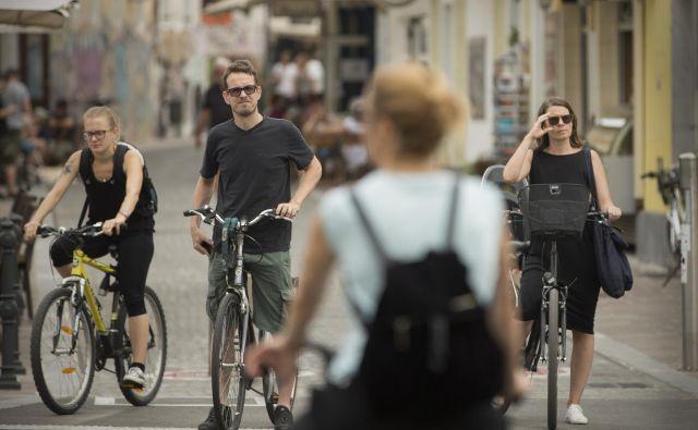 Ljubljana bo v tednu mobilnosti največ pozornosti namenila kolesarjem. FOTO: Jure Eržen