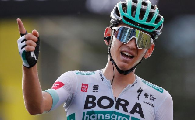 Zmagovalec 16. etape je<strong>LennardKämna (</strong>Bora Hansgrohe). FOTO:Christophe Ena/AFP