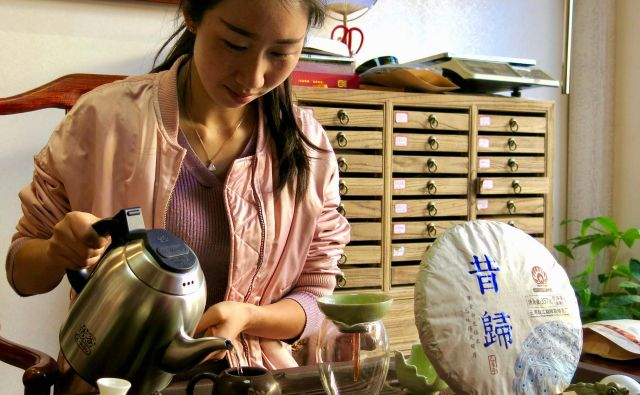 Čajna tržnica, Kunming, Junan