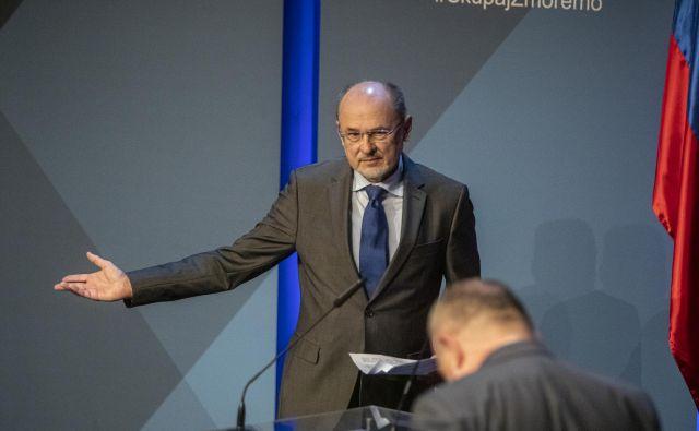 Vladi govorec Jelko Kacin. Foto: Voranc Vogel/Delo