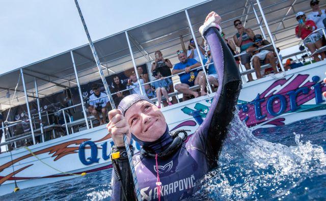Čeprav je to že njen četrti ali peti rekord v tej disciplini, je tokratni izjemen zaradi posebnosti tega leta. FOTO: Alex St. Jean