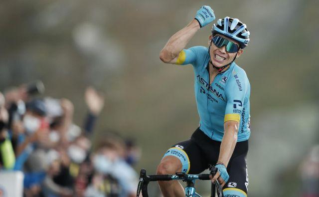 Zmagovalec 17. etape je Miguel Lopez. FOTO: Benoit Tessier/Reuters
